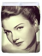 Anne Baxter, Vintage Actress Duvet Cover