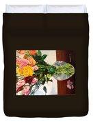 Anniversary Flowers  Duvet Cover