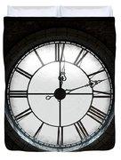 Antique Backlit Clock Duvet Cover