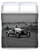Antique Races Black And White Duvet Cover