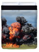Boeing Apache Longbow  Helicopter Exercise Duvet Cover