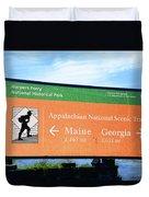 Appalachian National Scenic Trail Duvet Cover