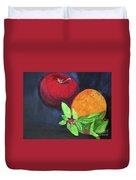 Apple, Orange And Red Basil Duvet Cover