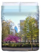 April In Rittenhouse Square Duvet Cover