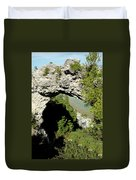 Arch Rock Mackinac Island Duvet Cover