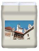 Architecture Details Of Pruhonice Castle Duvet Cover