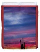 Arizona Desert Sunset Duvet Cover
