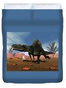 Arizonasaurus Dinosaur - 3d Render Duvet Cover