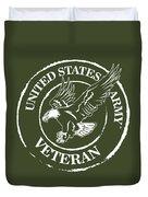 Army Veteran Duvet Cover