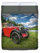 Arriving In Style Duvet Cover by Adrian Evans