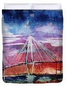 Arthur Ravenel Jr Bridge Charleston Duvet Cover