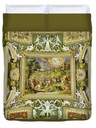 Artistic Ceilings Within The Vatican Museums In The Vatican City Duvet Cover