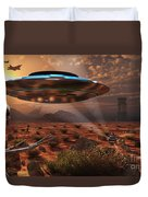 Artists Concept Of Stealth Technology Duvet Cover