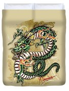 Asian Dragon Duvet Cover