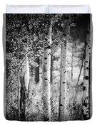 Aspen Trees In Black And White Duvet Cover