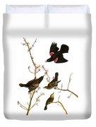 Audubon: Blackbird, (1827) Duvet Cover