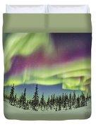 Aurora Borealis Over Churchill Duvet Cover