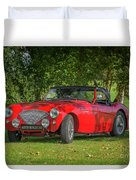 Austin Healey 100 Duvet Cover