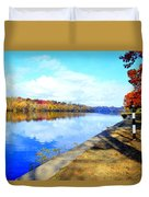 Autumn Afternoon On The Schuykill River Duvet Cover