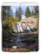 Autumn At Helen Hunt Falls Colorado Duvet Cover
