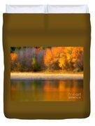 Autumn At Sawmill Lake Duvet Cover