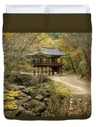 Autumn At Seonamsa Duvet Cover