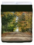 Autumn Backroad  Duvet Cover