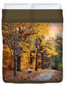 Autumn By The River Duvet Cover