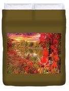 Autumn Garlands Duvet Cover