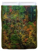 Autumn Hillside Blue Ridge Parkway Duvet Cover