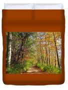 Autumn In The Park Duvet Cover