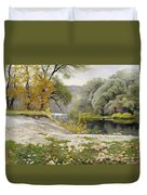 Autumn Landscape In The Vicinity Of Eshar Duvet Cover