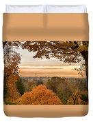Autumn On The Hill Duvet Cover