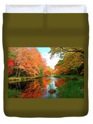 Autumn On The Mersey River, Kejimkujik National Park, Nova Scotia, Canada Duvet Cover