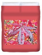 Autumn Red Duvet Cover