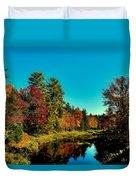 Autumn Splendor On The Moose River Duvet Cover