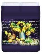 Autumn Sunflowers Duvet Cover