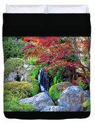 Autumn Waterfall - Digital Art 5x3 Duvet Cover