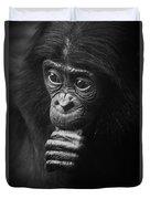 Baby Bonobo Portrait Duvet Cover