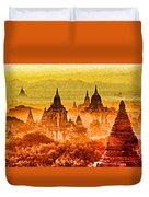 Bagan Pagodas Duvet Cover