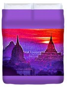Bagan Sunrise Duvet Cover