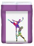 Ballet Dancer-colorful Duvet Cover