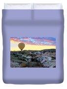 Ballooning At Sunrise No 2 Duvet Cover
