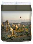 Ballooning In Cappadocia Duvet Cover