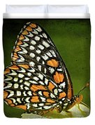 Baltimore Checkerspot Duvet Cover