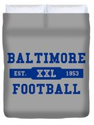 Baltimore Colts Retro Shirt Duvet Cover