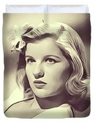 Barbara Bel Geddes, Vintage Actress Duvet Cover