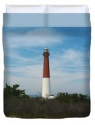 Barnegat Lighthouse - New Jersey Duvet Cover