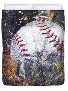 Baseball Art Version 6 Duvet Cover