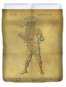 Baseball Catcher's Mask Patent Duvet Cover
